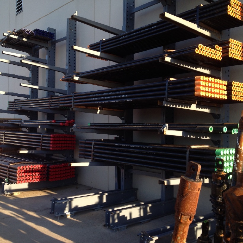 single sided cantilever rack in use