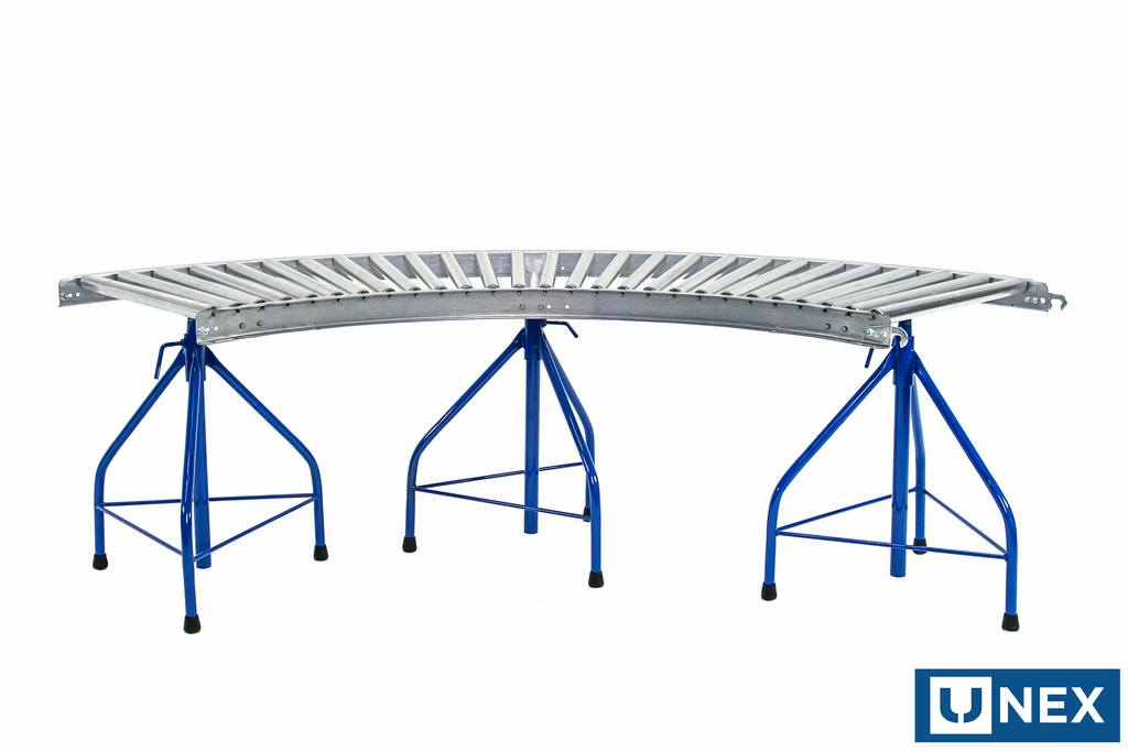 Gravity Conveyor with Tripod Supports