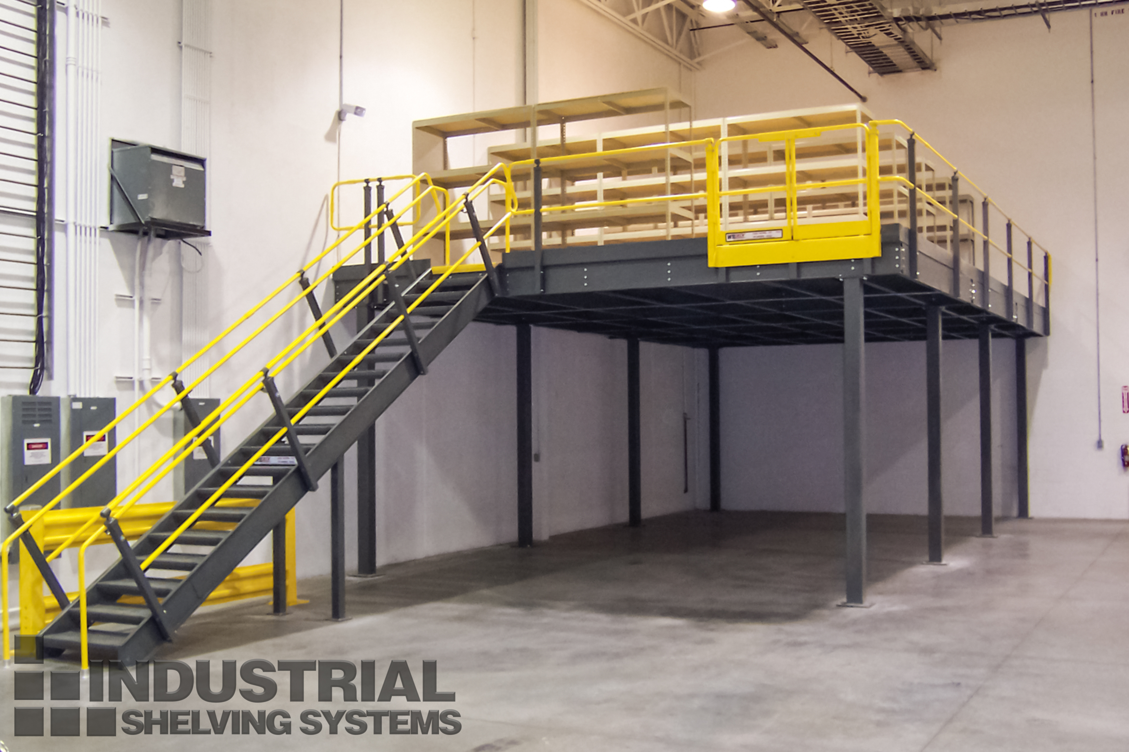 Wildeck Mezzanine with Stair and Handrail